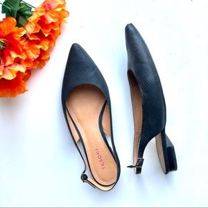 Tesori Nordstrom's Pointed Toe Flats Black 9 EUC